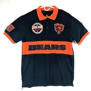 Mens NFL Chicago Bears Patch Polo Shirt sz Large